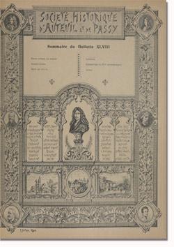 Bulletin n° 48 de la Société d'Histoire d'Auteuil et de Passy