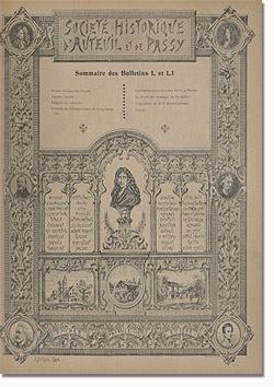 Bulletin n° 50-51 de la Société d'Histoire d'Auteuil et de Passy