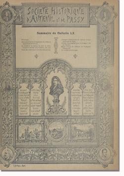 Bulletin n° 60 de la Société d'Histoire d'Auteuil et de Passy