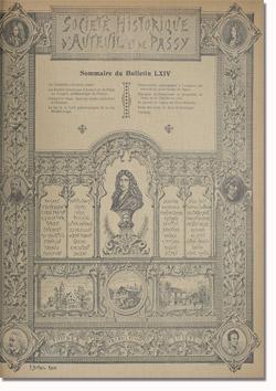 Bulletin n°64 de la Société d'Histoire d'Auteuil et de Passy