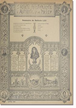 Bulletin n°65 de la Société d'Histoire d'Auteuil et de Passy