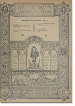 Bulletin n°67 de la Société d'Histoire d'Auteuil et de Passy