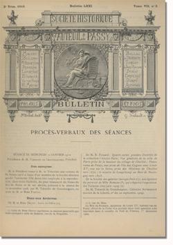 Bulletin n°71 de la Société d'Histoire d'Auteuil et de Passy