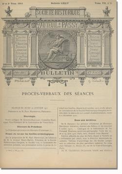 Bulletin n°74 de la Société d'Histoire d'Auteuil et de Passy