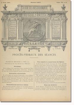 Bulletin n°75 de la Société d'Histoire d'Auteuil et de Passy