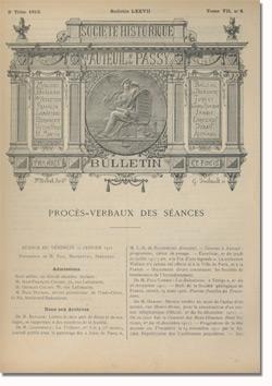 Bulletin n°77 de la Société d'Histoire d'Auteuil et de Passy