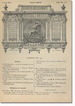 Bulletin n°78 de la Société d'Histoire d'Auteuil et de Passy