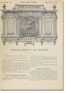 Bulletin n°81-82 de la Société d'Histoire d'Auteuil et de Passy