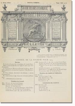 Bulletin n°83 de la Société d'Histoire d'Auteuil et de Passy