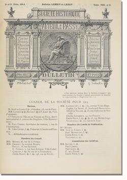 Bulletin n°84-85 de la Société d'Histoire d'Auteuil et de Passy