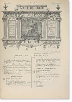 Bulletin n°94 de la Société d'Histoire d'Auteuil et de Passy