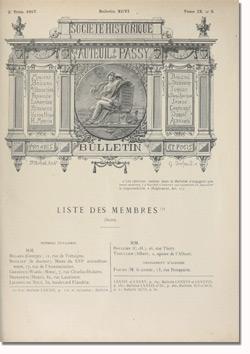 Bulletin n°96 de la Société d'Histoire d'Auteuil et de Passy