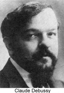 Achille Claude DEBUSSY, compositeur, né à Saint-Germain-Laye en 1862, mort à Paris en 1918.