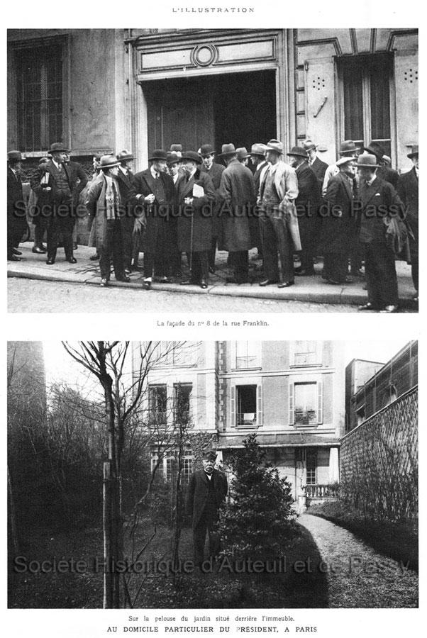 Georges CLEMENCEAU dans son jardin de la rue Franklin
