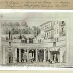 Entrée de l'établissement thermal de Passy (vers 1820).