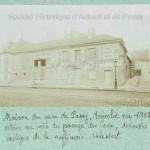 Maison du quai de Passy démolie en 1908.