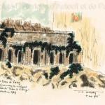 L'orangerie des Eaux de Passy détruite en 1939.
