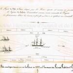 Combat naval ou fête nautique donnée sur la Seine en 1852 en l'honneur du Prince Président Louis Napoléon.