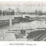 Billancourt : garage à sec durant les inondations de 1910