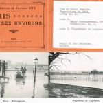 """""""Passy : déménagement, avenue de Versailles."""" / """"Hippodrome de Longchamps"""". In Inondations de Janvier 1910, Paris et ses environs. Don de Mlle Armelin, Album n°4. Paris, A. Taride éditeur."""
