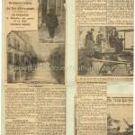 Crue de la Seine en 1910. Article de presse. Photo de la rue Félicien David inondée.
