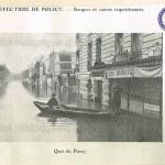 Préfecture de police. - Barques et canots réquisitionnés. Quai de Passy (photographie).
