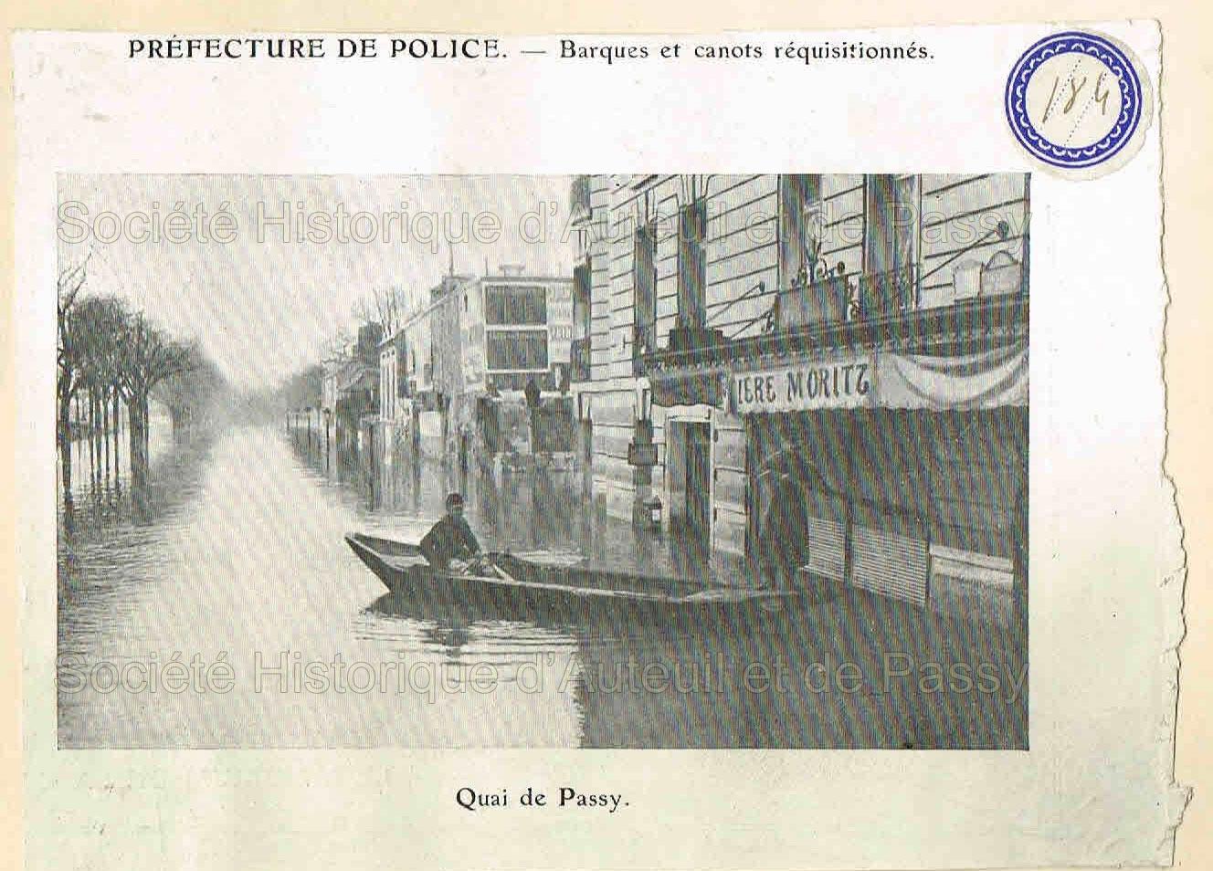 Inondations dans le xvie arrondissement 1910 soci t historique d 39 auteuil et de passy - Prefecture de police porte de clignancourt ...
