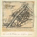 Les inondations des quartiers de Passy et de Javel (plan). Journal La Patrie du 1er février 1910.