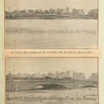 """La crue de la Seine. Deux photographies : """"Le pont de l'Alma le 28 janvier 1910. Maximum de la crue."""" / """"Le pont de l'Alma hier matin à 10h."""""""
