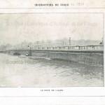 Inondations de Paris en 1910. Photographie : le pont de l'Alma.