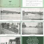 """""""Le Viaduc d'Auteuil."""" / """"Le pont Mirabeau."""" / """"Tramway passant quai de Passy."""" / Le bois de Boulogne."""" / """"Quai Debilly."""" In Inondations de Janvier 1910, Paris et ses environs. Don de Mlle Armelin, Album n°1. Paris, A. Taride éditeur."""