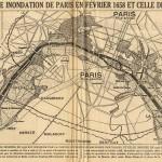La plus forte inondation de Paris en février 1658 et celle de janvier 1910 (article de presse).
