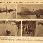 L'inondation à Paris : les quais de la Seine envahis par les eaux (article de presse).