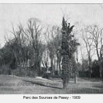 Le Parc des Sources de Passy en 1909.