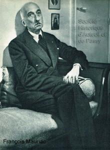 François MAURIAC, écrivain, né à Bordeaux en 1885, mort à Paris en 1970