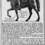 La statue équestre du maréchal Foch