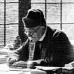 Clemenceau à sa table de travail, rue Franklin
