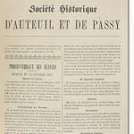 Bulletin n° 1 de la Société d'Histoire d'Auteuil et de Passy