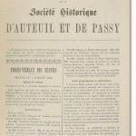 Bulletin n° 2 de la Société d'Histoire d'Auteuil et de Passy