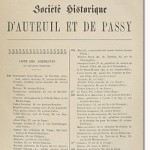 Bulletin n° 5 de la Société d'Histoire d'Auteuil et de Passy