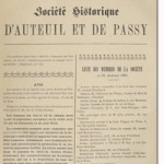 Bulletin n° 6 de la Société d'Histoire d'Auteuil et de Passy