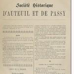 Bulletin n° 7 de la Société d'Histoire d'Auteuil et de Passy