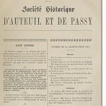 Bulletin n° 10 de la Société d'Histoire d'Auteuil et de Passy