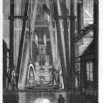 Jaillissement des eaux du puits de Passy (1861).