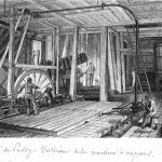 Puits de Passy. Intérieur de la machine à vapeur.