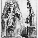 """Caricature : """"On assure que le puits de Grenelle dessèche de jalousie devant le succès de son voisin, le puits de Passy""""."""