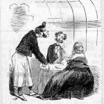 """Caricature : """"... Donnez-moi un petit verre d'eau du puits de Passy""""."""