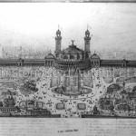 Vue générale du Palais et du Parc du Trocadéro.