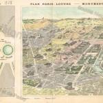 Plan : le Trocadéro et Paris-Louvre - Monuments de Paris.