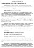 Vœu du Conseil de Paris. Séance des 12 et 13 novembre 2013 - Phare du Trocadéro